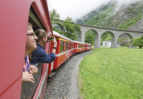 Von St. Moritz nach Mailand